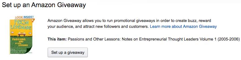 Amazon Giveaway Program