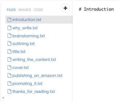 Creating chapters in Leanpub