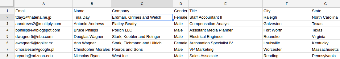Creating customer profiles from email signatures