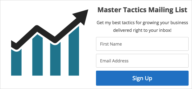 Simple opt-in form with lead magnet image