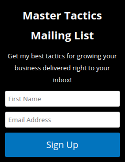 Simple sidebar opt-in form