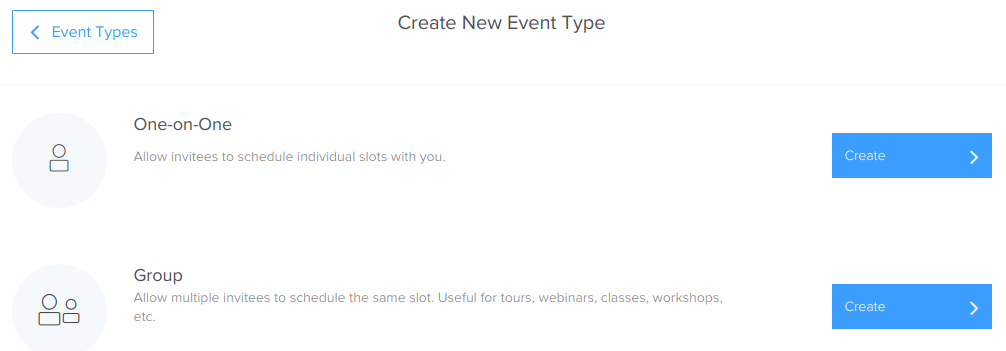 Calendly - Create new event type