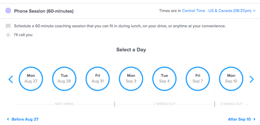 Simple client scheduling